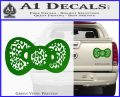 Hello Kitty Leopard Bow Decal Sticker Green Vinyl 120x97