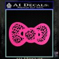 Hello Kitty Leopard Bow Decal Sticker Hot Pink Vinyl 120x120