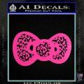 Hello Kitty Leopard Bow Decal Sticker Hot Pink Vinyl 120x120