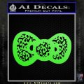 Hello Kitty Leopard Bow Decal Sticker Lime Green Vinyl 120x120