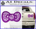 Hello Kitty Leopard Bow Decal Sticker Purple Vinyl 120x97