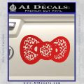 Hello Kitty Leopard Bow Decal Sticker Red Vinyl 120x120
