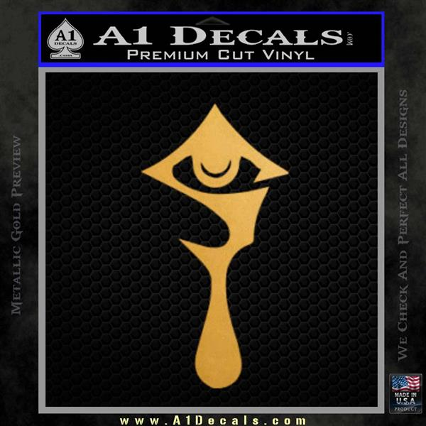 Hellsing Anime Decal Sticker Logo Metallic Gold Vinyl Vinyl