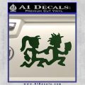 ICP Insane Clown Posse Couple Decal Sticker Juggalo RDZ Decal Sticker Dark Green Vinyl 120x120