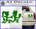 ICP Insane Clown Posse Couple Decal Sticker Juggalo RDZ Decal Sticker Green Vinyl 120x97