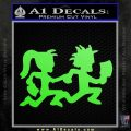 ICP Insane Clown Posse Couple Decal Sticker Juggalo RDZ Decal Sticker Lime Green Vinyl 120x120