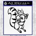 Ice Age Scrat Full Decal Sticker Black Logo Emblem 120x120