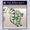 Ice Age Scrat Full Decal Sticker Dark Green Vinyl 120x120