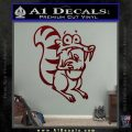 Ice Age Scrat Full Decal Sticker Dark Red Vinyl 120x120