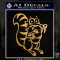 Ice Age Scrat Full Decal Sticker Metallic Gold Vinyl Vinyl 120x120