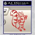 Ice Age Scrat Full Decal Sticker Red Vinyl 120x120
