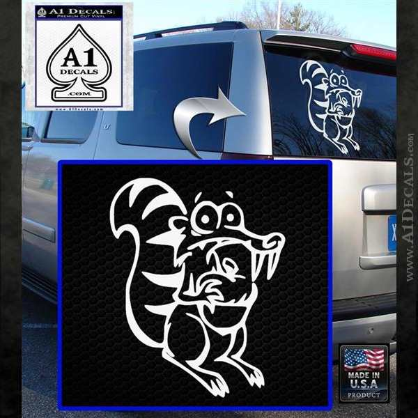 Ice Age Scrat Full Decal Sticker White Emblem