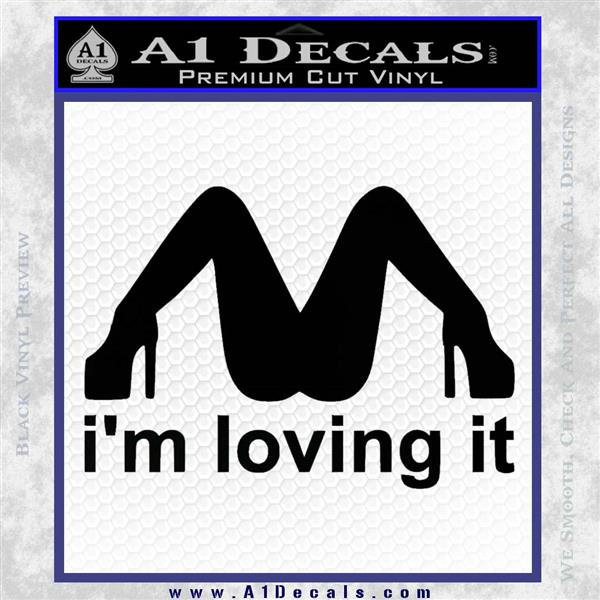 Mcdonalds Im Loving It Decal Sticker 187 A1 Decals