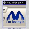 Im Loving It Decal Sticker Blue Vinyl 120x120