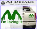 Im Loving It Decal Sticker Green Vinyl 120x97