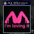 Im Loving It Decal Sticker Hot Pink Vinyl 120x120