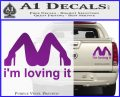Im Loving It Decal Sticker Purple Vinyl 120x97