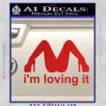 Im Loving It Decal Sticker Red Vinyl 120x120
