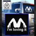 Im Loving It Decal Sticker White Emblem 120x120