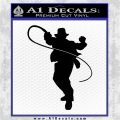 Indian Jones Whip Decal Sticker Black Logo Emblem 120x120