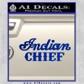 Indian Motorcycle Decal Sticker Chief ST Blue Vinyl 120x120