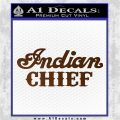 Indian Motorcycle Decal Sticker Chief ST Brown Vinyl 120x120