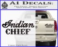 Indian Motorcycle Decal Sticker Chief ST Carbon Fiber Black 120x97