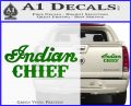 Indian Motorcycle Decal Sticker Chief ST Green Vinyl 120x97