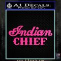 Indian Motorcycle Decal Sticker Chief ST Hot Pink Vinyl 120x120