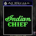 Indian Motorcycle Decal Sticker Chief ST Lime Green Vinyl 120x120