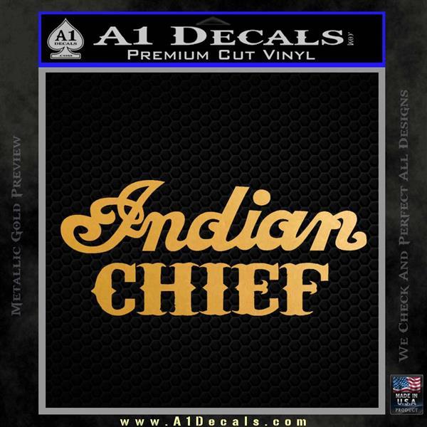 Indian Motorcycle Decal Sticker Chief ST Metallic Gold Vinyl Vinyl