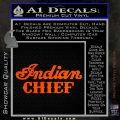 Indian Motorcycle Decal Sticker Chief ST Orange Vinyl Emblem 120x120