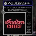 Indian Motorcycle Decal Sticker Chief ST Pink Vinyl Emblem 120x120