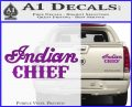 Indian Motorcycle Decal Sticker Chief ST Purple Vinyl 120x97