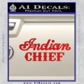 Indian Motorcycle Decal Sticker Chief ST Red Vinyl 120x120