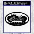 Indian Motorcycle OV Decal Sticker Black Logo Emblem 120x120