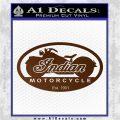 Indian Motorcycle OV Decal Sticker Brown Vinyl 120x120