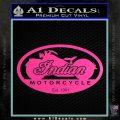 Indian Motorcycle OV Decal Sticker Hot Pink Vinyl 120x120
