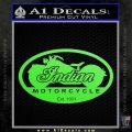 Indian Motorcycle OV Decal Sticker Lime Green Vinyl 120x120