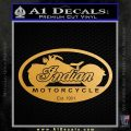 Indian Motorcycle OV Decal Sticker Metallic Gold Vinyl Vinyl 120x120