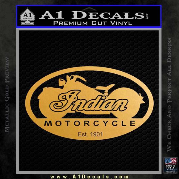 Indian Motorcycle OV Decal Sticker Metallic Gold Vinyl Vinyl