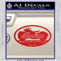 Indian Motorcycle OV Decal Sticker Red Vinyl 120x120