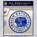 Indian Motorcycles CRI Decal Sticker Blue Vinyl 120x120