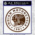 Indian Motorcycles CRI Decal Sticker Brown Vinyl 120x120