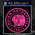 Indian Motorcycles CRI Decal Sticker Hot Pink Vinyl 120x120