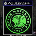 Indian Motorcycles CRI Decal Sticker Lime Green Vinyl 120x120