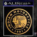 Indian Motorcycles CRI Decal Sticker Metallic Gold Vinyl Vinyl 120x120