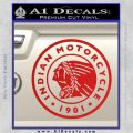 Indian Motorcycles CRI Decal Sticker Red Vinyl 120x120