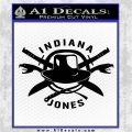 Indiana Jones Crest Decal Sticker Black Logo Emblem 120x120