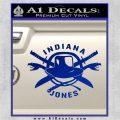 Indiana Jones Crest Decal Sticker Blue Vinyl 120x120
